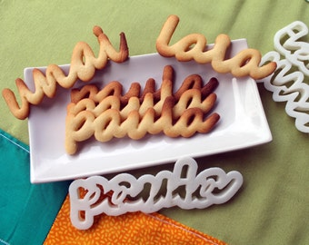 Custom Cookie Cutter with your name, Cookie mold, Custom cutter, gift, cookie word