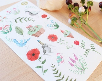 Stickers aquarel