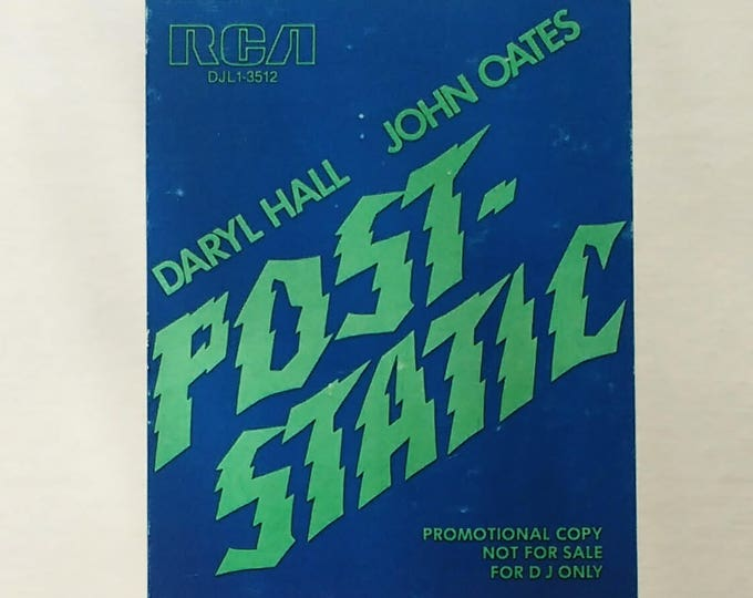 """Hall & Oates 12"""" PROMO EP! Authentic Vintage 1979! Hall/Oates ~ Post Static EP 4 Songs On 1 Side! Never Played Promo! Mint Condition!"""