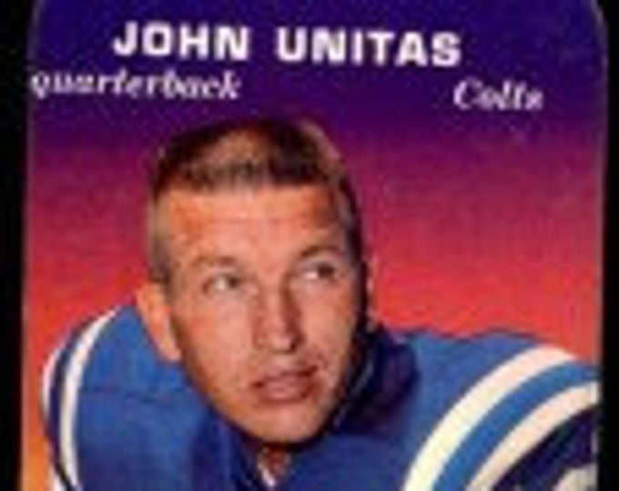 John Unitas, Topps Card, Super Glossy, Card Is Creased! Authentic Vintage 70! Baltimore Colts, Quarterback, Football Hall Of Fame, Topps #2!
