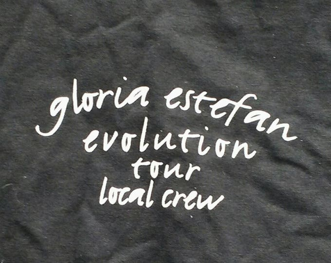 Gloria Estefan ~ CREW  T Shirt! Authentic Vintage 1996! Gloria Estefan ~ Evolution World Tour 1996! Support Tour For 'Destiny' Album Size XL