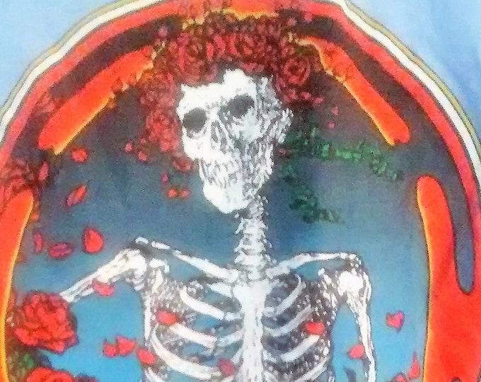 RARE! Grateful Dead T Shirt Kelley/Mouse Bertha Skull & Roses Art! Authentic Vintage 80! Grateful Dead 10/3/80 Radio City! ORIGINAL ART!Rare