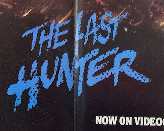 The Last Hunter~Vestron Video Poster! Authentic Vintage 1985! The Last Hunter ~ David Warbeck Classic Vietnam War Thriller Banned On Release