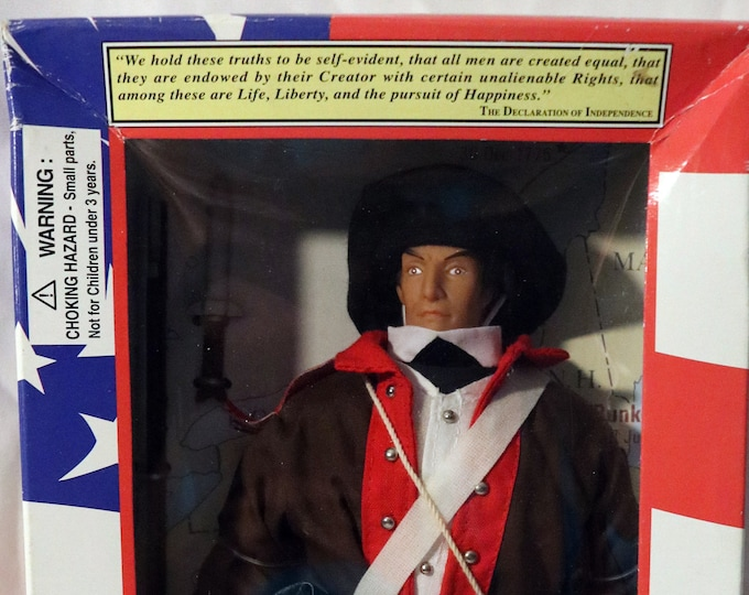 "Soldiers Of The World Revolutionary War Sergeant 12"" Action Figure! Authentic Vintage 1997! Action Figure Soldier 1775-1783! Never Opened!"