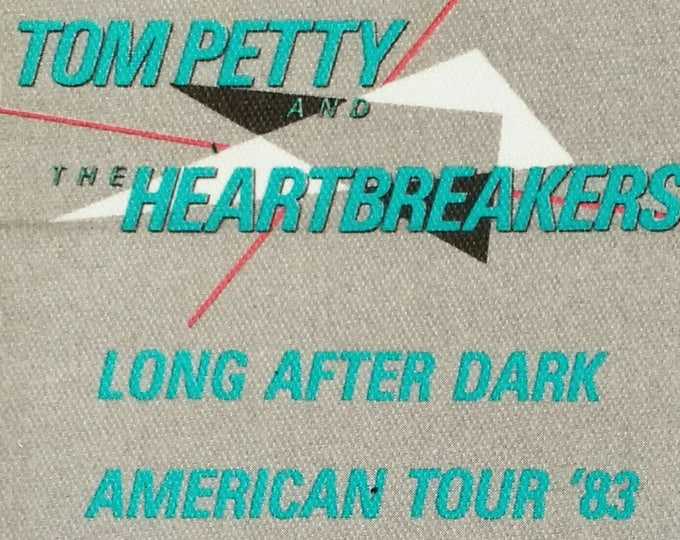 Tom Petty Satin Backstage Pass Rare Unused ON SALE! Authentic Vintage 1983! Tom Petty ~ Long After Dark American Tour! Intact! Never Used!