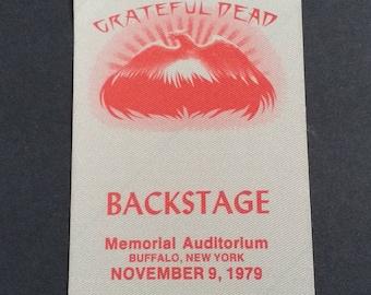RARE Grateful Dead UNUSED Satin Pass! Authentic Vintage 1979! Grateful Dead ~ Rare Pass With Venue Imprint & Date Nov 9 1979! Never Used