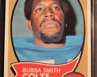Bubba Smith ~  Topps Rookie Card! Authentic Vintage 1970! Bubba Smith ~ Baltimore Colts Football Card #114 Rookie Card! Excellent Condition