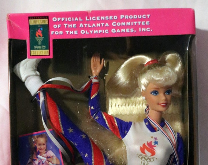 Barbie Olympic Gymnast Atlanta Games! Authentic Vintage 1996! Barbie ~ Olympic Gymnast  New! Never Opened Box! Complete With Accessories!
