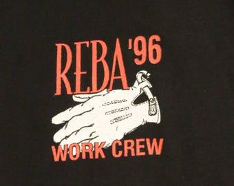Reba McEntire Crew Concert T Shirt! Authentic Vintage 1996! Reba McEntire ~ 1996 Concert Tour! Like New! Never Worn! Size  XL