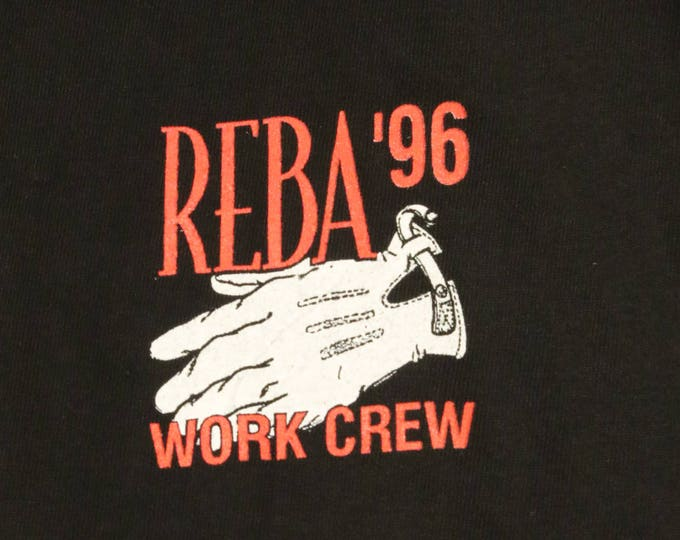 Reba McEntire Crew Concert T Shirt! Authentic Vintage 1996! Reba McEntire ~ 1996 Concert Tour! Like New! Never Worn! Size  XL