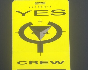 Yes Backstage Pass 9012Live Tour! Authentic Vintage 1984! Yes~9012Live World Tour Backstage Pass! Buffalo NY Memorial Aud May 9 '84! Intact!