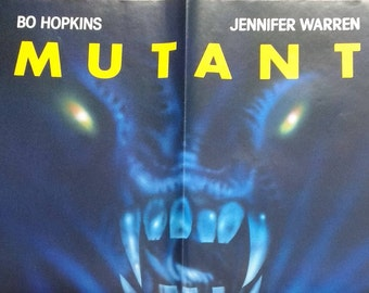 "Mutant~ Movie Poster & Large VHS Box Hanger! Authentic Vintage 1985! Mutant ~ Vestron Video Poster! Never Used! Excellent Condition! 24""x36"""