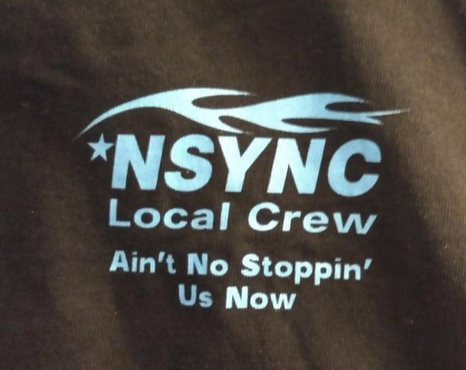 N'Sync/Justin Timberlake RARE Crew T Shirt! Authentic Vintage 99! N'Sync Concert Crew T Shirt MGM Grand Las Vegas April 17, '99!Like New!XL