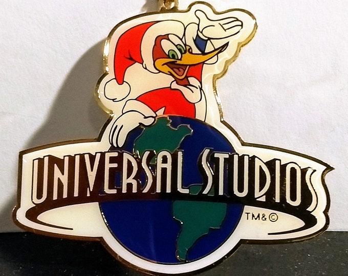 Woody Woodpecker, Ornament, Universal Studios! Authentic Vintage 1990's!    Christmas, Woody As Santa Claus!Universal Studios, Walter Lantz!