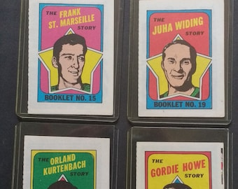 Gordie Howe O Pee Chee Hockey Booklets Howe + 3! Authentic Vintage 1971! O Pee Chee Hockey Booklets! Howe + 3 More! Excellent Condition!