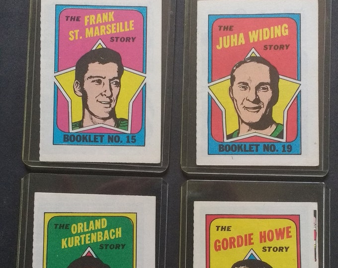 Gordie Howe, O Pee Chee, Hockey Booklets Howe! Authentic Vintage 71! O Pee Chee, Hockey Books! Howe + 3 More! Excellent! Father's Day Gift!