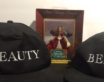 Disney's Beauty and the Beast Original Licensed Broadway Snapback Hats/Ornament Bundle! Authentic Vintage'94! Disney's Beauty & The Beast NM
