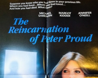 The Reincarnation of Peter Proud, Poster, Vestron Video! Authentic Vintage 1985! Michael Sarrazin, Margot Kidder, Jennifer O'Neill, Unused!