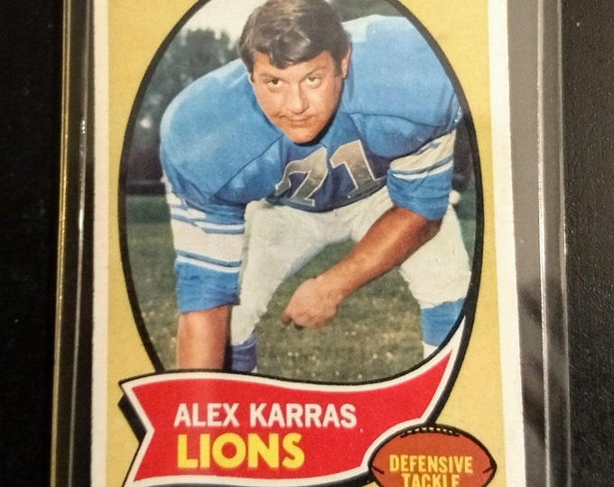 Alex Karras Topps Football Trading Card! Authentic Vintage 1970! Alex Karras Topps Card #249 Hall Of Fame! Mongo Blazing Saddles! Lions/Rams