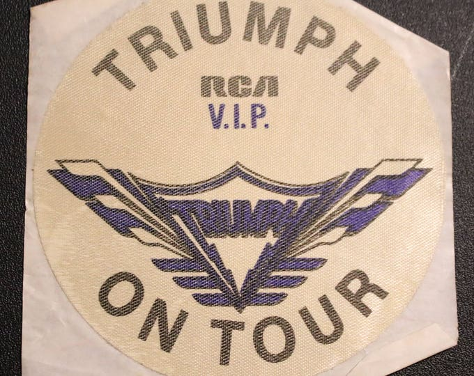 "Triumph Backstage Pass! Authentic Vintage 1979! Triumph ~ ""Just A Game"" Tour! RCA Record Executive Pass Intact Backstage Pass"