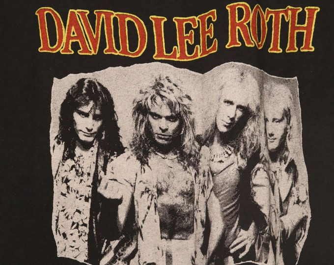 David Lee Roth Concert Shirt LIKE NEW! Authentic Vintage 1986!David Lee Roth~Eat 'Em & Smile Tour Steve Vai Billy Sheehan  Gregg Bissonette!