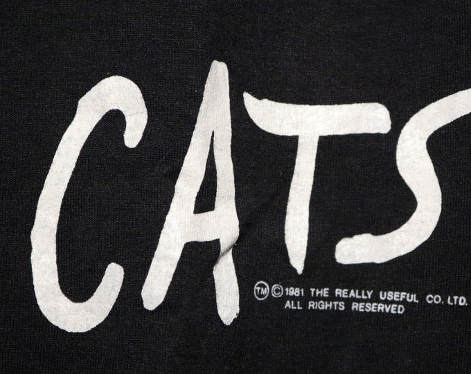Cats T Shirt Rare Original Broadway NYC! Authentic Vintage '82! Cats Winter Garden Theatre Oct 7 '82 Vintage Original Screen Stars T Shirt!