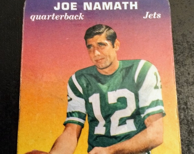 Joe Namath ~ Topps Super Glossy Trading Card! Authentic Vintage 1970! Joe Namath ~ NY Jets Quaterback Card #29!  Original 1970 Card! RARE!