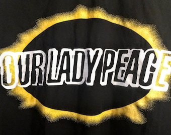 "Our Lady Peace, Concert T Shirt! Authentic Vintage 98! ""Clumsy Tour"" Opener For The Rolling Stones, 4/17/98 Carrier Dome, Syracuse, New York"