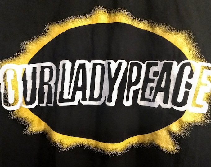 """Our Lady Peace, Concert T Shirt! Authentic Vintage 98! """"Clumsy Tour"""" Opener For The Rolling Stones, 4/17/98 Carrier Dome, Syracuse, New York"""