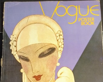 Vogue Poster Book Intro Diana Vreeland! Authentic Vintage 1975! Vogue Poster Book ISBN 0517520443 Binding Loose/Shelf Wear/Posters Excellent