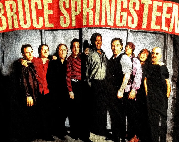 """Bruce Springsteen, E Street Band, Concert T Shirt! Authentic Vintage 99! E Street Band, Itinerary On Back, """"Reunion Tour"""" Meadowlands Shows!"""