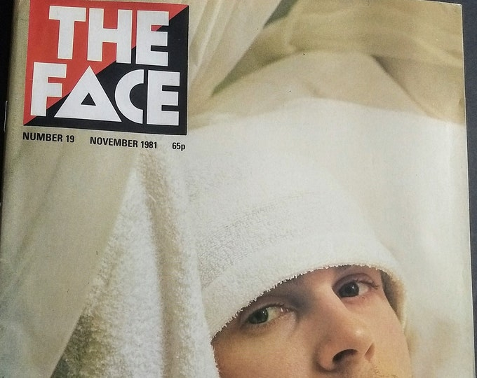 The Face Magazine Julian Cope /Early Bowie Pics #19! Authentic Vintage 1981! Julian Cope The Teardrop Explodes Black Sheep VG+ / Exce!llent!