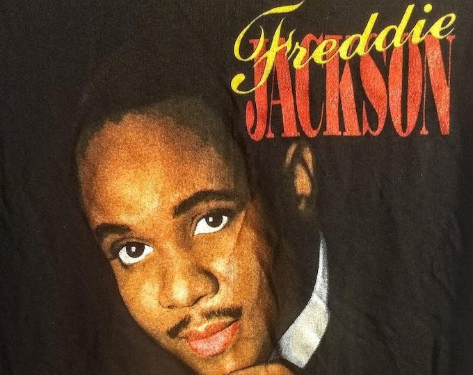 """Freddie Jackson, Band T Shirt, RARE In Like New, Never Worn Condition! Authentic Vintage 1988! Freddie Jackson """"Don't Let Love Slip Away""""!"""