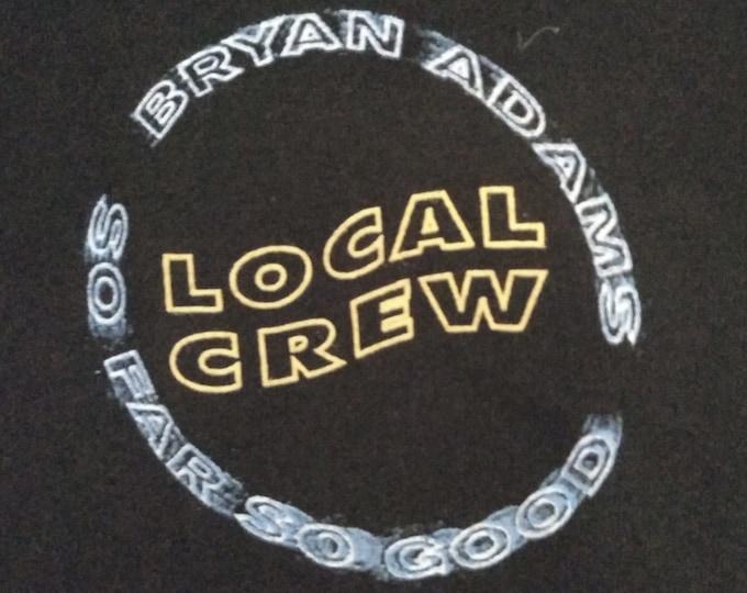 "Bryan Adams, Band T Shirt RARE! Authentic Vintage 1994! Bryan Adams,""So Far So Good"", Tech Crew T Shirt, March 6, '94 MSG/New York City! XL"