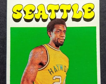 Spencer Haywood NBA Rookie Card Topps #20! Authentic Vintage '71-2! Spencer Haywood Seattle Supersonics Topps Rookie Card! NBA Hall Of Fame!