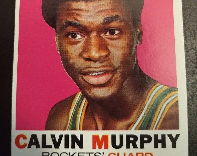 Calvin Murphy, Trading Card, NBA, Topps Card, Rockets! Authentic Vintage 71-72!Calvin Murphy, Topps Trading Card  #58!Houston Rockets Guard