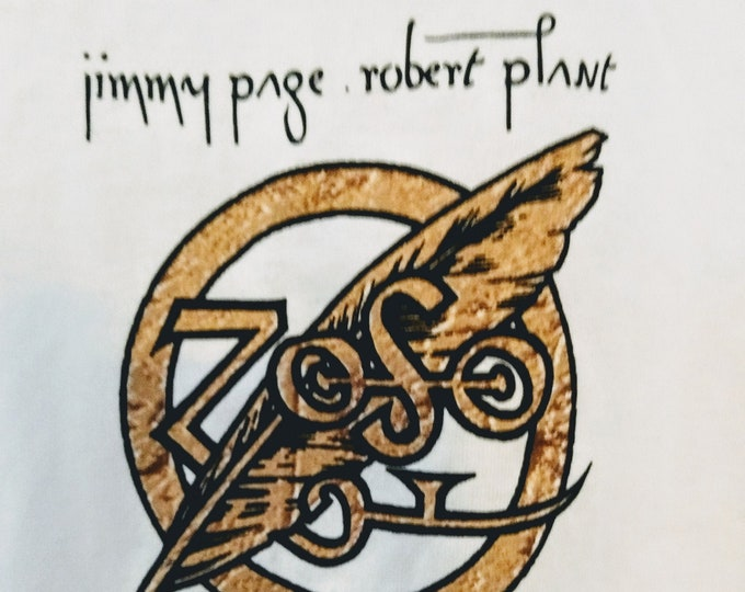 "Jimmy Page , Robert Plant, Led Zeppelin Tech Crew T Shirt, Licensed! Authentic Vintage 1995! Page / Plant ""No Quarter Tour""! Licensed TShirt"