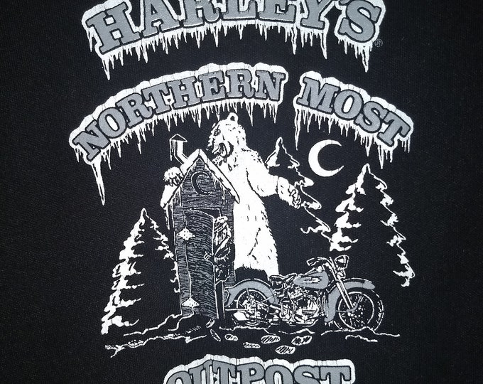 Harley Davidson Tank Top, Harley, Fairbanks, Alaska, Womans Snap Front Tank!Authentic Vintage '94! Harley Davidson Branded Woman's Tank Top!