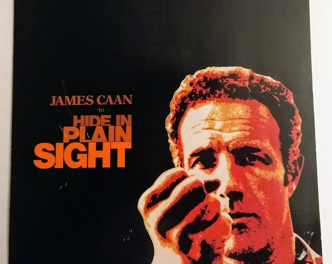 James Caan Hide In Plain Sight World Premiere Program!Authentic Vintage 1980!Hide In Plain Sight Program James Caan/Danny Aiello/Joe Grifasi