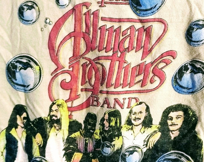 The Allman Brothers Band Concert T Shirt! Authentic Vintage 79! Allman Bros. Enlightened Rogues Tour! Greg Allman, Dickey Betts, Jaimoe! SM