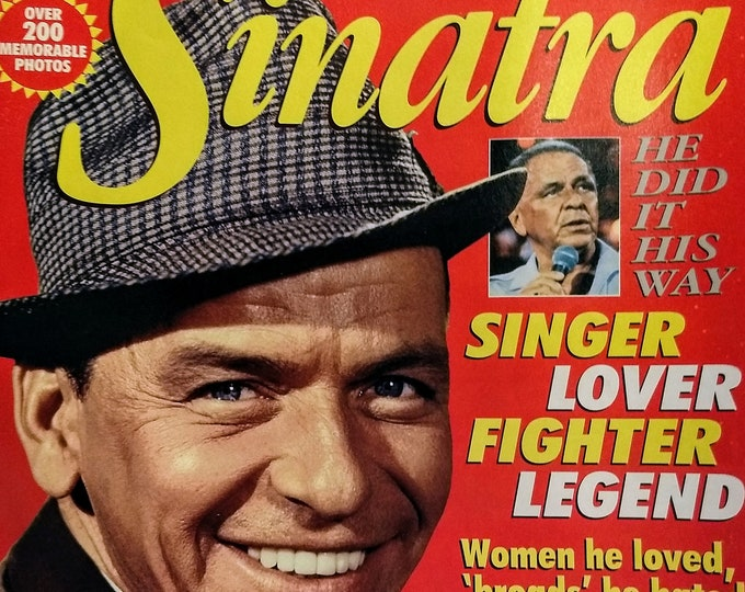 "Frank Sinatra, Commemorative Star Magazine! Authentic Vintage 1996! Frank Sinatra ""Special Memorial Tribute"", He Did It His Way! Excellent!"