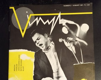 Vinyl Magazine w/Minoon Flexidisc From The Netherlands In Dutch RARE! Authentic Vintage '81! Vinyl Magazine No. 2! Flexi Unplayed/NM! RARE!