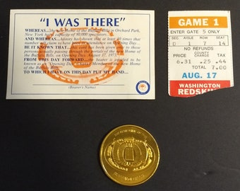 "Buffalo Bills Rich Stadium 1st Game Commemorative ""Gold"" Coin / Card / Ticket Stub! Authentic Vintage'73! Bills Collectible Aug 17, 1973"