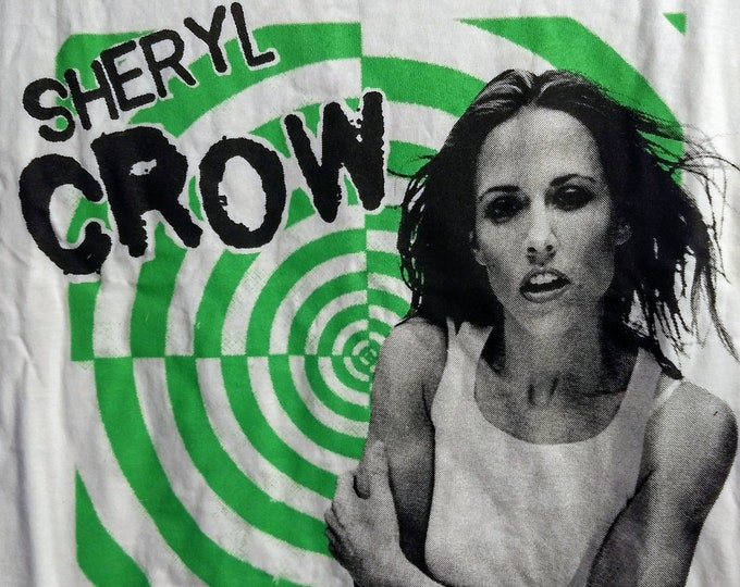 RARE Sheryl Crow Concert T Shirt! Authentic Vintage 97! Sheryl Crow Ryman Auditorium Nashville Tennesse! February 9,'97! PolyGram Tour Promo
