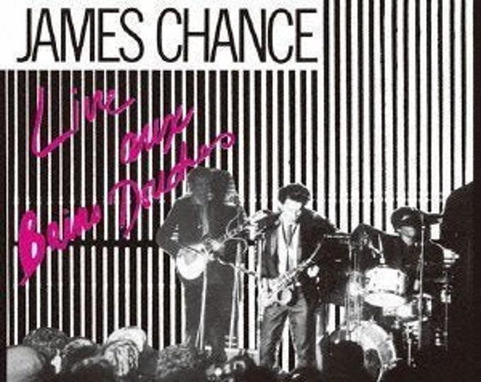 "James Chance & The Contortions, Vinyl Album, French Import, Live! Authentic Vintage 1980! ""Live Aux Bains Douches"" Recorded Live In Paris!"