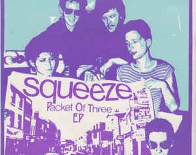 """Squeeze 7"""" Vinyl EP, UK Import! Authentic Vintage 1979! Squeeze """"Packet Of Three"""" EP, Jools Holland, Glenn Tilbrook,Chris Difford Near Mint!"""