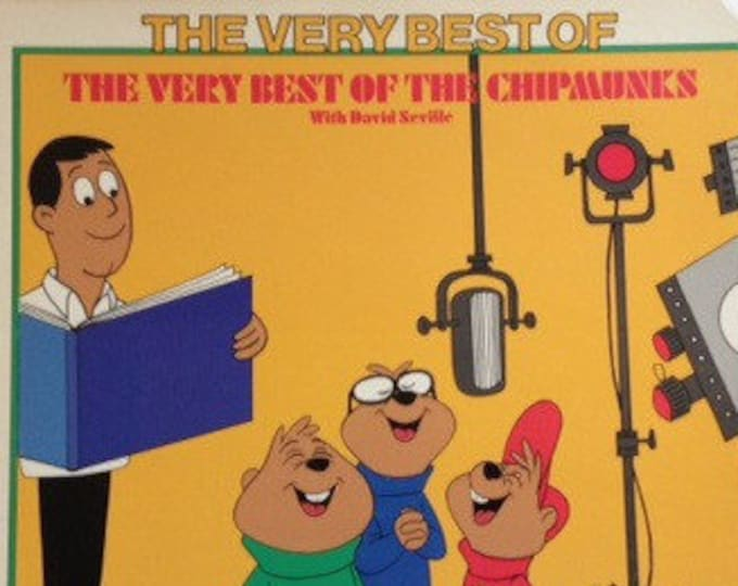The Chipmunks, Vinyl Album! Authentic Vintage 1975! Very Best Of The Chipmunks, Featuring David Seville! Compilation, Novelty Record!