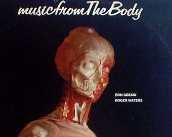 Roger Waters Vinyl LP! Authentic Vintage 1976! Roger Waters/Ron Geesin ~ Music From The BodyNear Mint Vinyl & Drill Holed Cover!Stock Photo!
