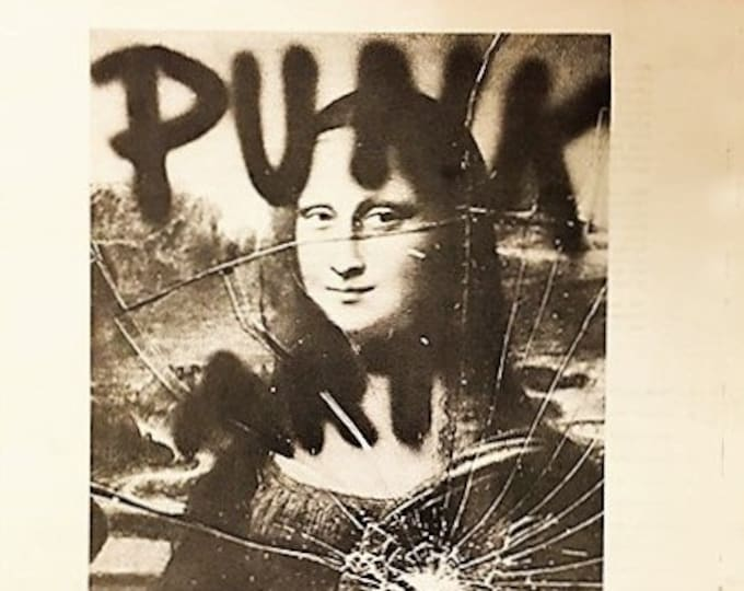 PUNK Art Exhibition Program!Authentic Vintage78!Washington Project For The Arts Gallery!Original 1978 Gallery Newsprint Catalogue!Near Mint!