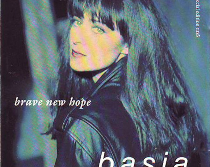 "Basia, CD Maxi-Single, Special Edition, US Release! Authentic Vintage 1990! Basia ""Brave New Hope"" + 6 More Songs!Cocktail Jazz,Synth Pop!NM"